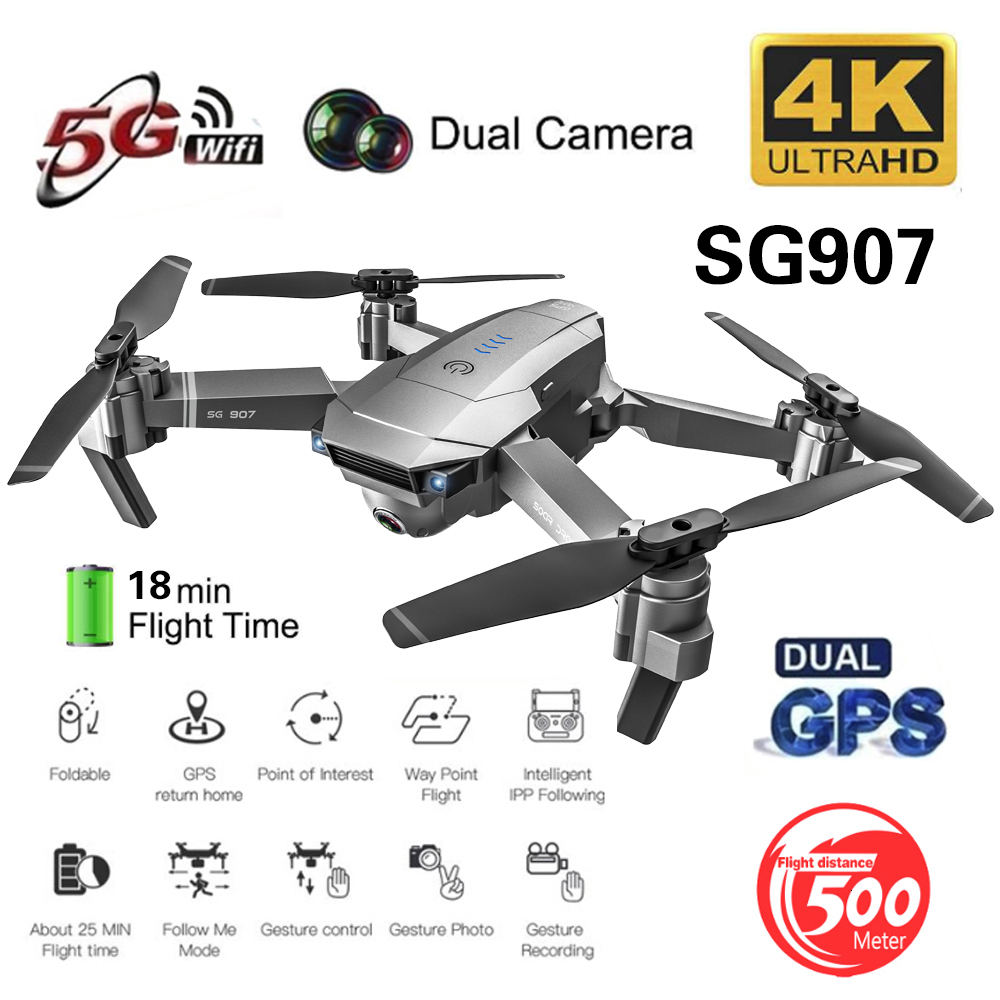 ZLRC SG907 RC GPS Drone with 5G WiFi 90° Electric Adjustment 4K Camera Follow Me Quadrocopter Foldable Quadcopter VS S167 E520S image