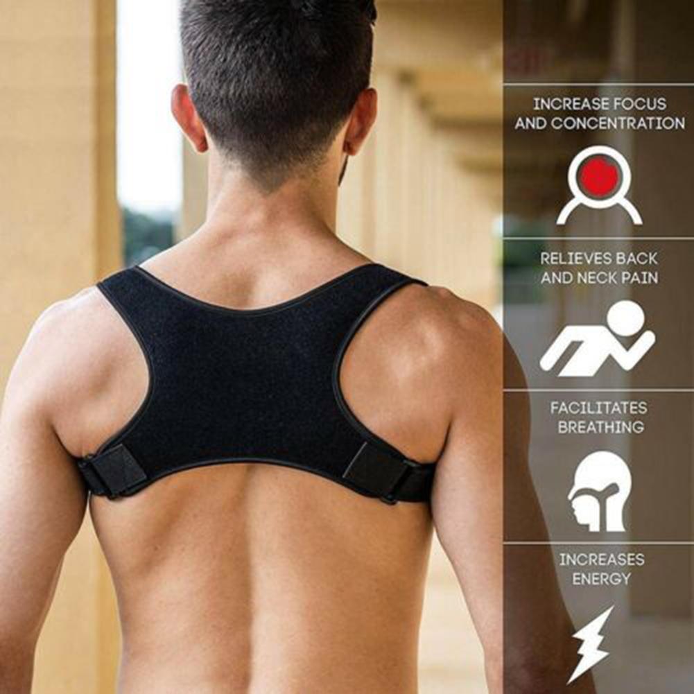 Unisex Men Women Back Posture Correction Belt Shoulder Corrector Support Brace Therapy Tool