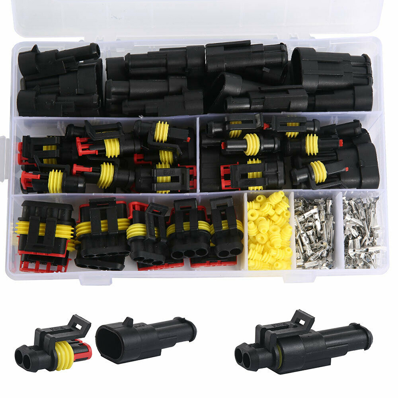 26 ensembles 1-4 broches manière 300V 16A étanche voiture Auto électrique connecteur de fil Kit de prise pour Auto voiture Marine pièces de rechange