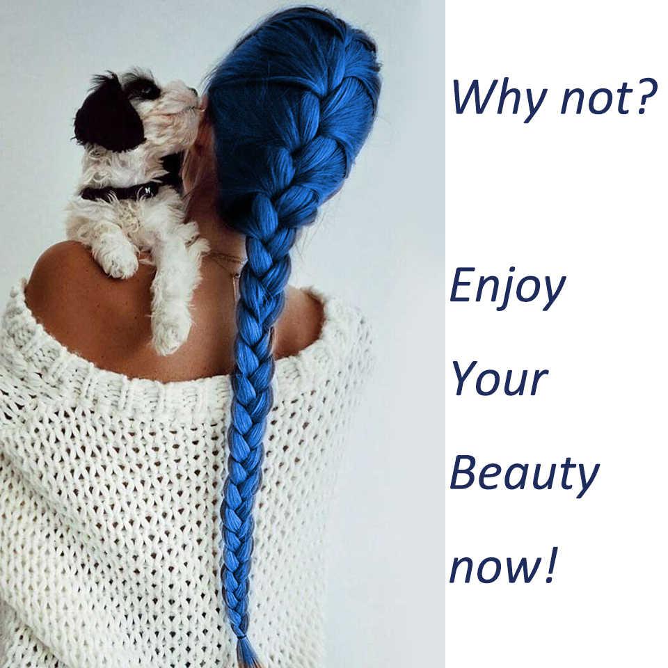 Extensiones de cabello de trenzado de ganchillo Ombre para mujeres trenzas sintéticas crotachet Multiple tonos para afro-americano