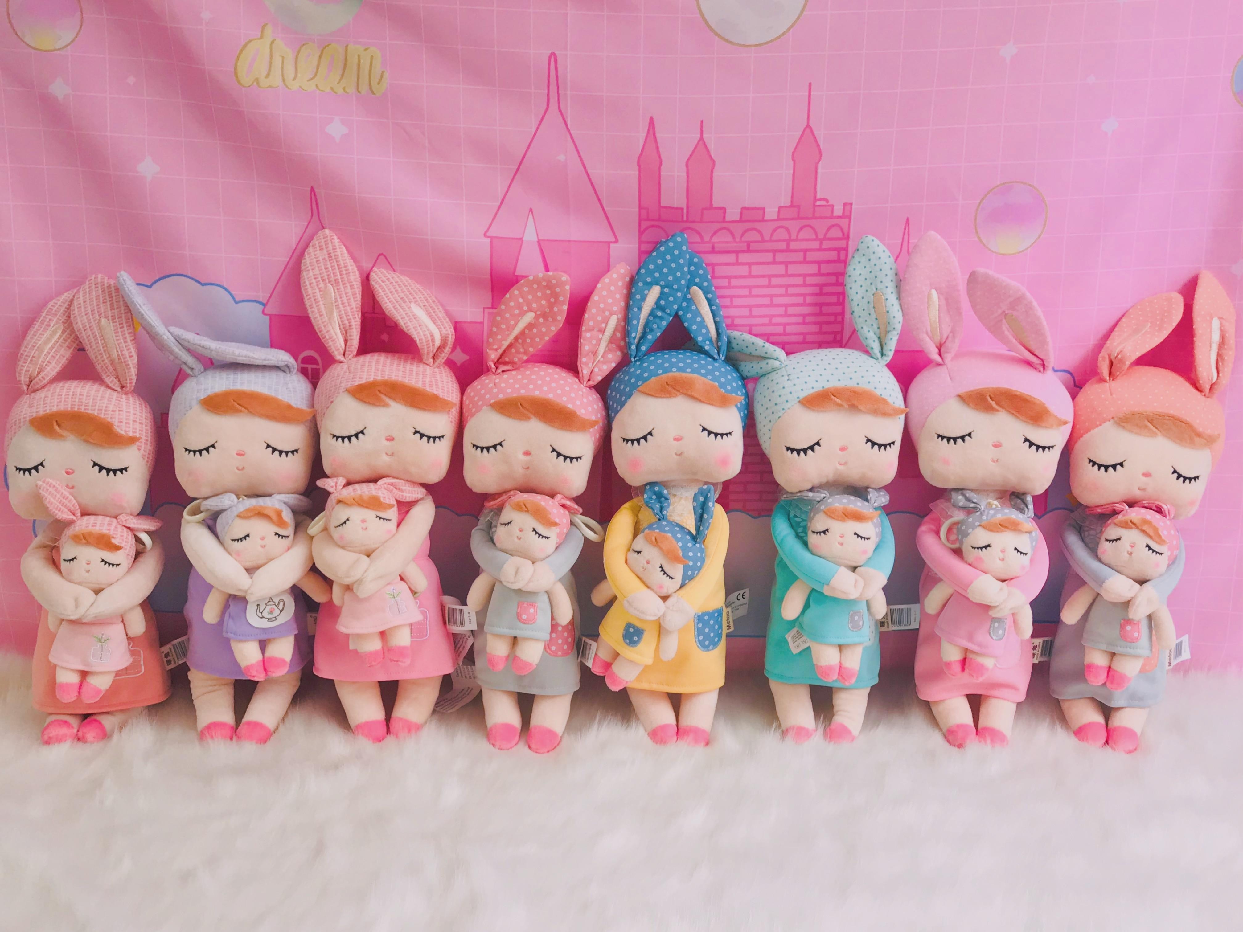 Metoo Plush Toys Stuffed Dolls Angela Dreaming Girl With Box Plush Rabbit Girl Gift Toys For Kids Christmas 2 Set 12
