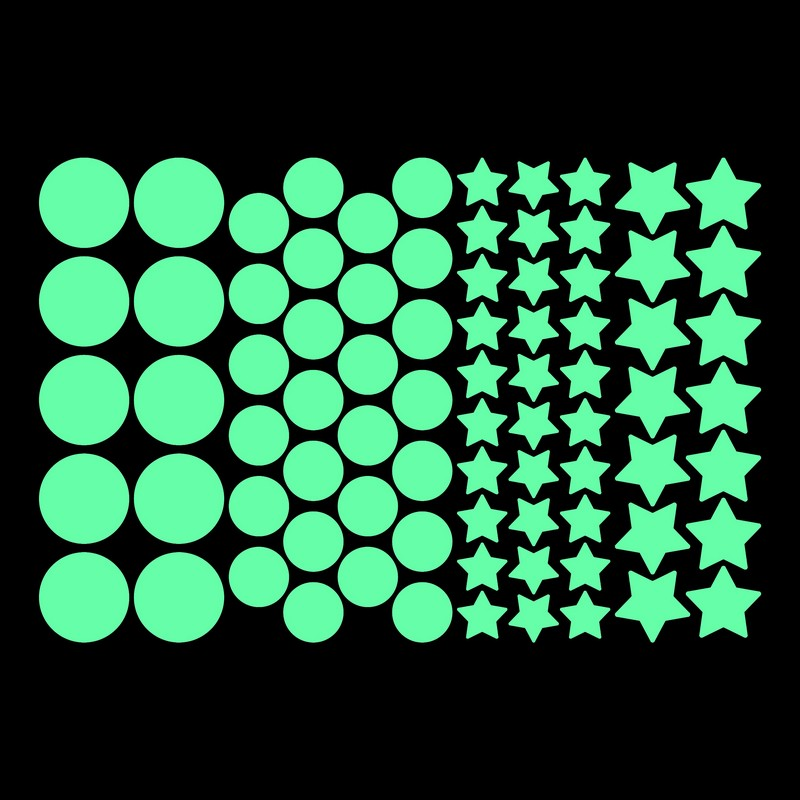 Small Round Stickers Luminous Stars Stickers Kids Room Children Home TV Background Wall Ceiling DIY Decoration Fluorescent Decal