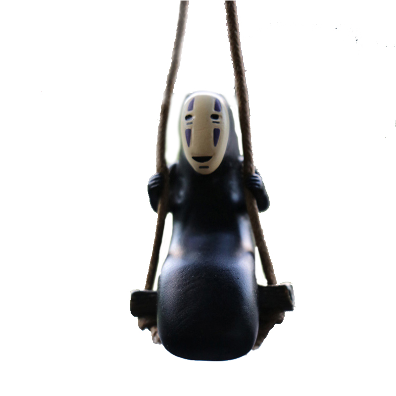 1pcs Spirited Away No Face Man Figures Toys Miyazaki Hayao Swing No Face Man Action Figure Model Toys Decoration For Child Gifts