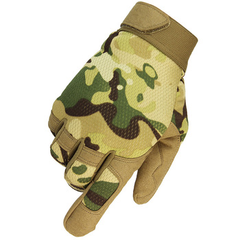 Winter Men's Gloves Full Finger Cycling Tactical Gloves Army Military Bicycle Riding Hiking Climbing Shooting Camo Sports Gloves image