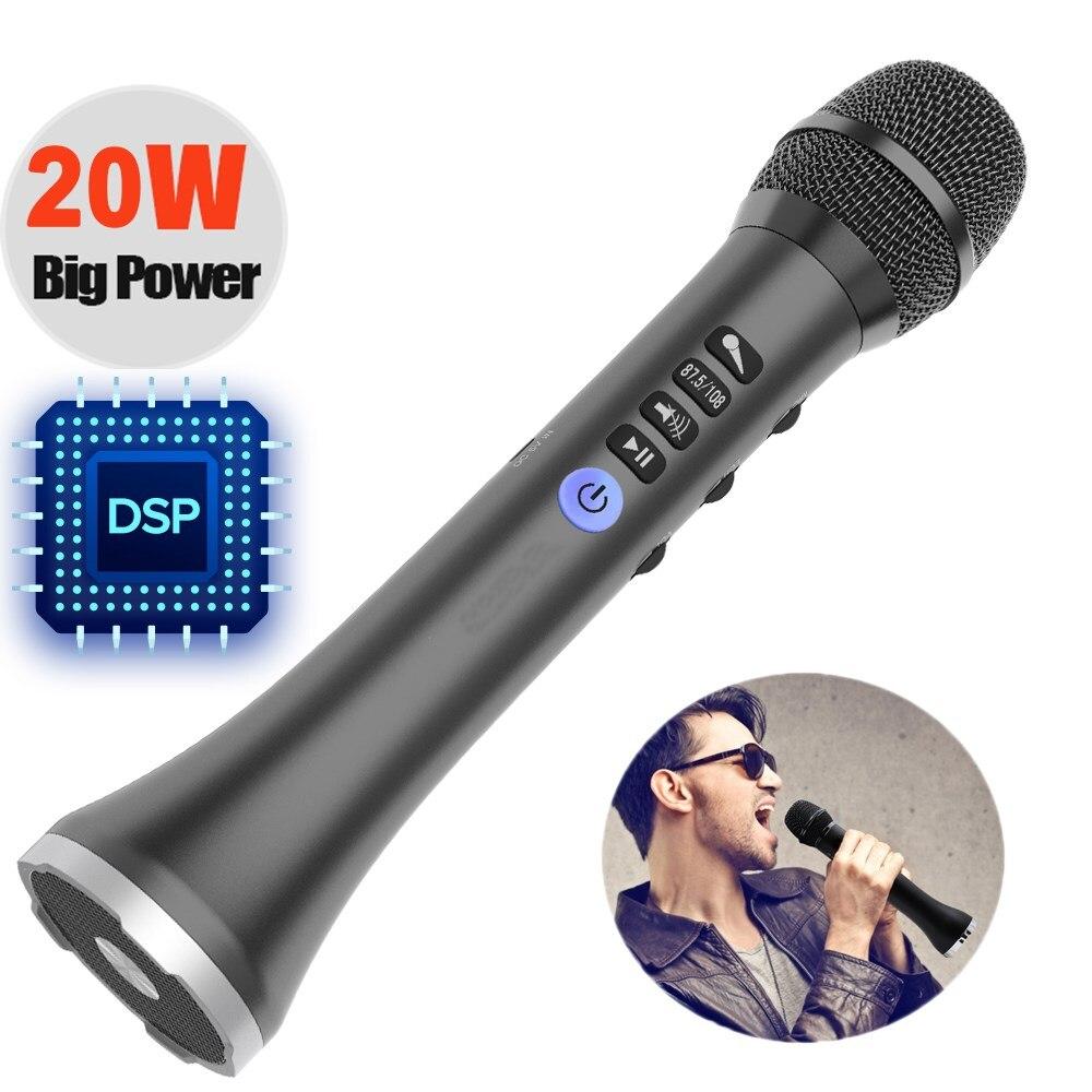2298.99руб. 48% СКИДКА|L 698DSP профессиональный 9 Вт/15 Вт/20 Вт Bluetooth караоке микрофон динамик Портативный беспроводной мини домашний KTV для пения и воспроизведения музыки|Микрофоны| |  - AliExpress