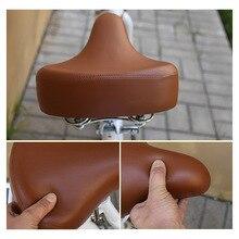 Quente retro couro do vintage assento de sela da bicicleta custion estrada mtb esporte sela marrom ciclismo sela da bicicleta assento
