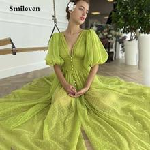Smileven в горошек из фатина вечернее платье сексуальное с v