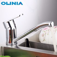 Olinia Rotatable Kitchen Faucet Deck Mounted Sink Faucet Water Saving Mixer Taps 360° otation Single Handle Single Hole OL7164