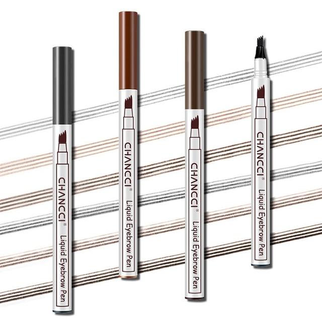 Newly Microblading Tattoo Eyebrow Pencil Long Lasting Waterproof Fork Tip Makeup Ink Sketch Eye Brow Pen CTN88