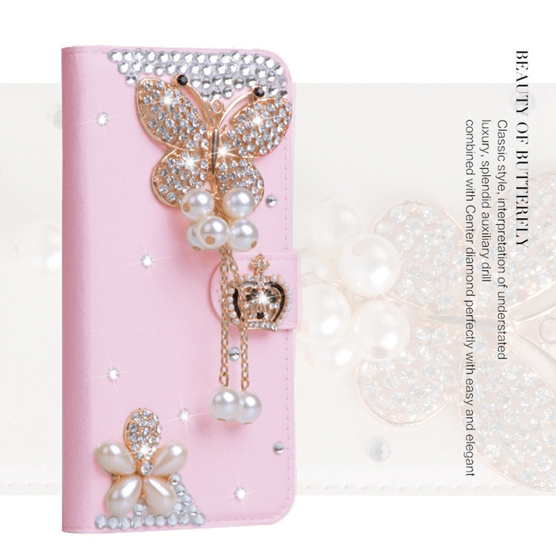 Luxury Women Rhinestone Leather <font><b>Phone</b></font> Wallet <font><b>Case</b></font> Bling Diamond Cover For <font><b>Samsung</b></font> a50 a70 s8 <font><b>s9</b></font> a40 a20 s10 plus <font><b>phone</b></font> <font><b>case</b></font> image