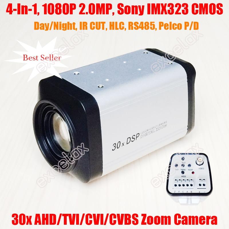 HD 2.0MP 1080P 30X Optical Zoom TVI Camera Box 30X Zoom TVI Camera 3-90mm WDR