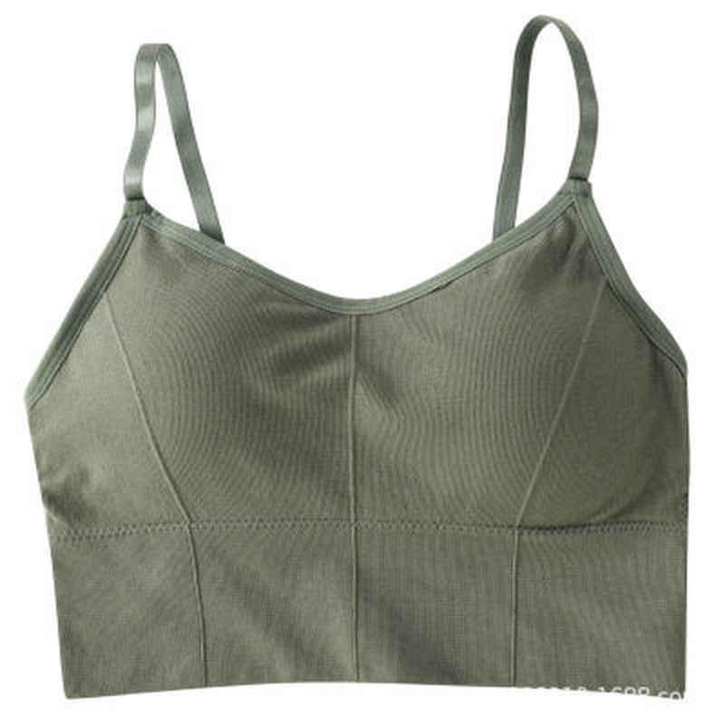 Women Bra Breathable Sports Bra Anti-sweat Shockproof Padded Sports Bra Yoga Top