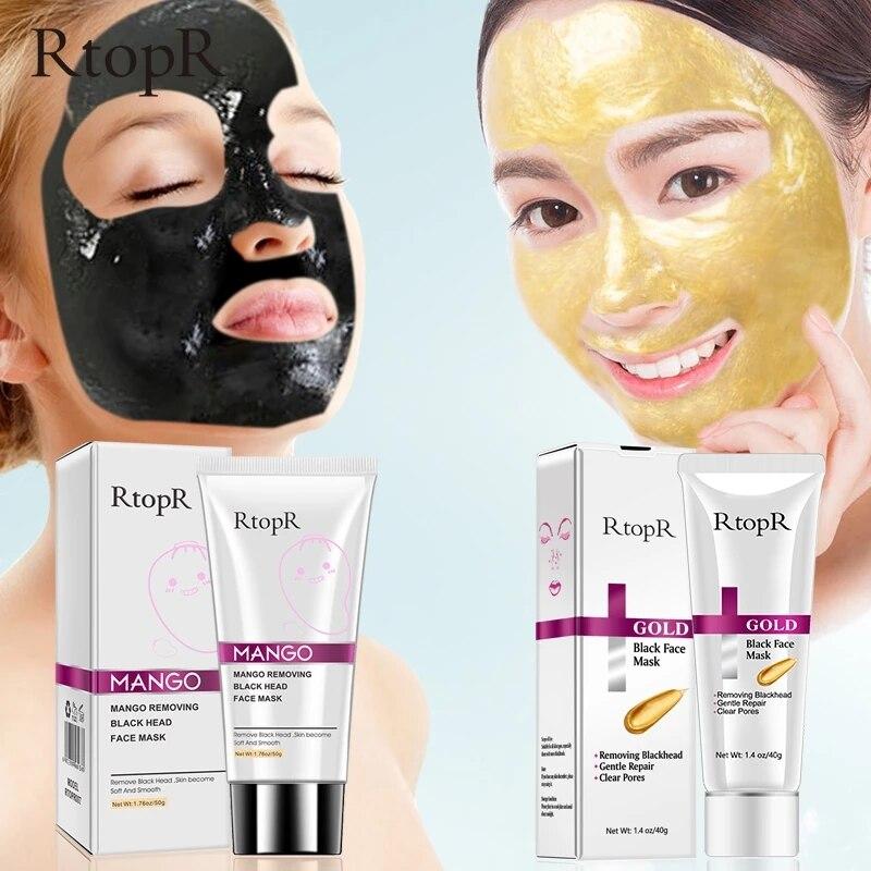 Mascarilla de oro y Mango para el acné, mascarilla para tratamiento de exfoliación de acné y espinillas, Limpieza Profunda, Oilcontrol|Tratamientos y mascarillas| - AliExpress