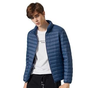 Image 2 - SEMIR chaqueta de invierno con capucha para hombre, chaqueta masculina con capucha de plumón de pato blanco cálido 2020, 90%