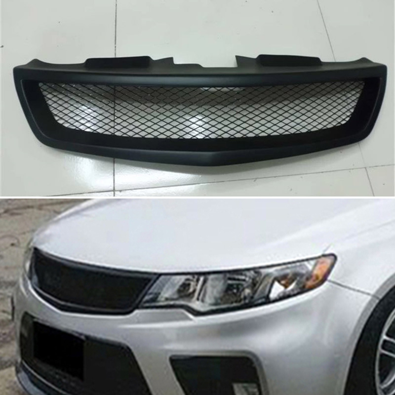 Body kit front bumper cover Refitting grill Accessories carbon fibre Racing Grills use for <font><b>KIA</b></font> Forte 5 Koup 2010 2011 2012 2013 image