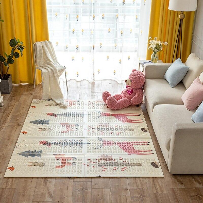 Pliable bébé tapis de jeu XPE mousse Puzzle tapis tapis de jeu pour bébé grand tapis de jeu ramper épais tapis jouant couverture imperméable