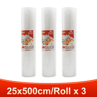 3 rolls 25x500cm-TINTON LIFE vacuum bags for food Fresh Long Keeping 12+15+20+25+28cm*500cm Rolls/Lot bags