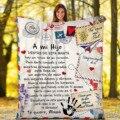 Фланелевое Одеяло с надписью «сообщение», подарок моей дочери, удобное одеяло с надписью «сообщение», отличное одеяло с надписью, немецкое ...