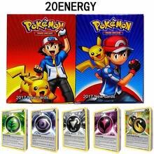 20 sztuk Pokemon karty energetyczne Shining TAKARA TOMY angielski handel gra karciana bitwa kolekcja Booster Box dzieci zabawki dla dzieci prezent
