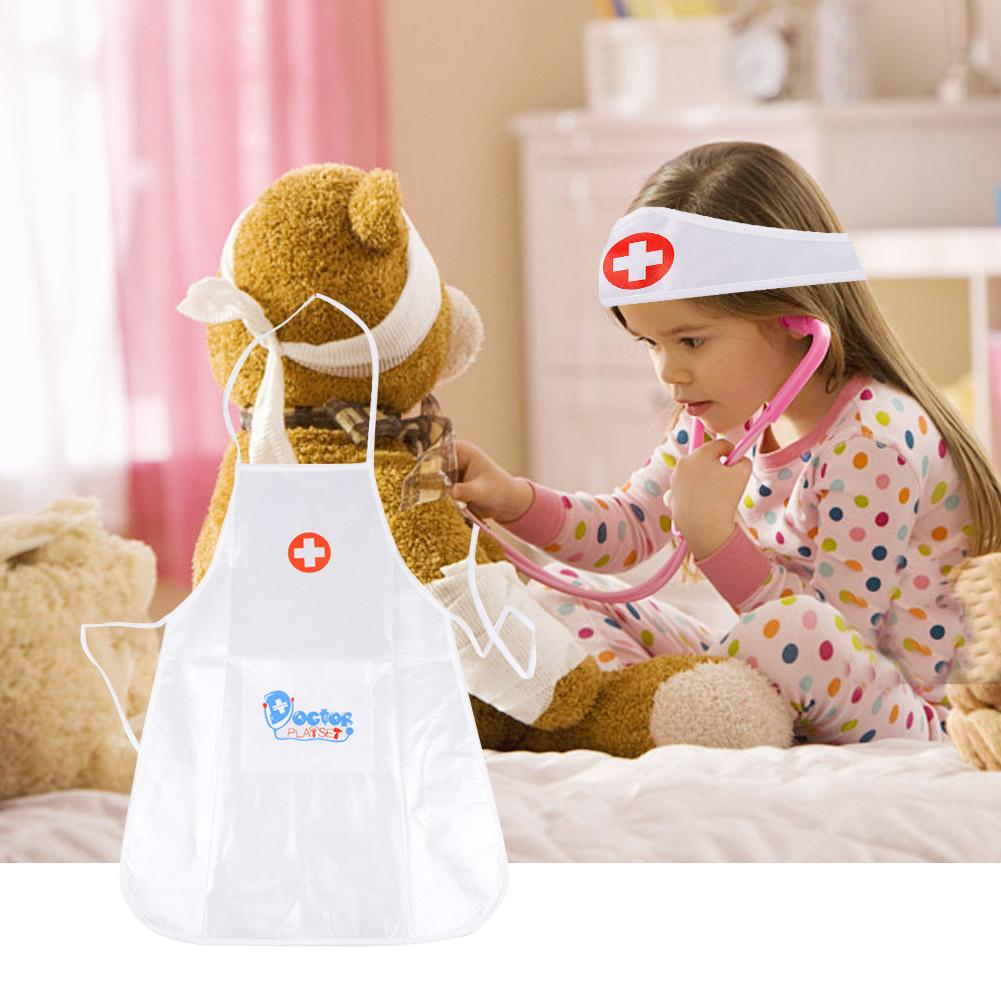 Children's Clothing Role Play Costume Doctor's Overall White Gown Nurse Uniform Educational Doctor Toy For Kids Gift
