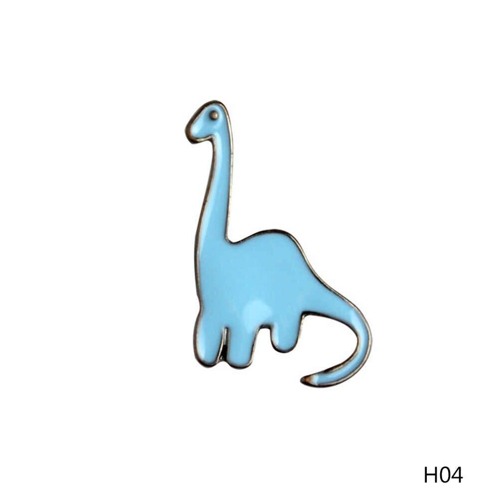 かわいい小さな恐竜モデル Brooces 漫画カラフルな恐竜ブローチかわいいピン DIY ボタンピンデニムピンバッジギフトジュエリー