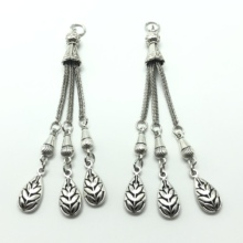 2PCS charm Turkish Muslim leaf rosary pendant prayer beads accessories for jewelry making DIY handmade materials