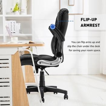 Yamasoro Office Armchairs Executive Computer High Back Adjustable Ergonomic Comfort Desk Chair With Wheel  Flip-up Arm Gas Lift 5