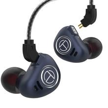 جديد TRN V90 4BA + 1DD الهجين المعادن IEM HIFI DJ رصد تشغيل سماعة أذن تستخدم عند ممارسة الرياضة سدادة الأذن سماعة الرأس