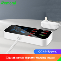 QC 3,0 Schnelle Ladegerät USB Typ C Ladegerät Mit Led-anzeige Für Android iPhone Adapter