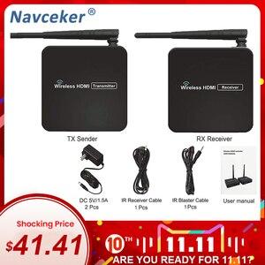 Image 1 - 330ft sans fil HDMI 1.3 Transmission vidéo sans fil HDMI expéditeur WIFI Extender 100m avec 20 ~ 60 KHz IR (émetteur + récepteur)