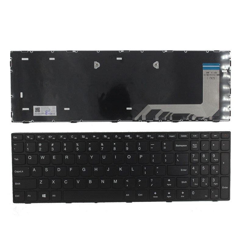 New US Keyboard For Lenovo IdeaPad 110-15ISK 110-17ACL 110-17IKB 110-17ISK US Laptop Keyboard No Backlit With Frame
