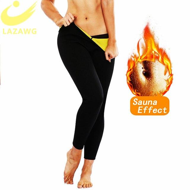 LAZAWG Braga de Control para mujer, pantalones ajustados de neopreno para Sauna con calor, moldeador de cuerpo, pantalones de entrenamiento deportivo, adelgazante de muslos