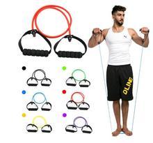 11 unids/set cuerda de tracción Fitness ejercicios de bandas de resistencia tubos de látex pedales deportivos equipo de Fitness