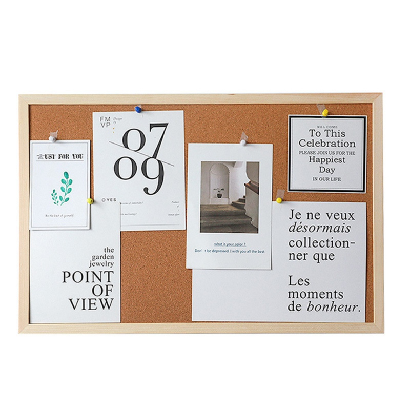 30x40cm Cork Board Drawing Board Pine Wood Frame White Boards Q