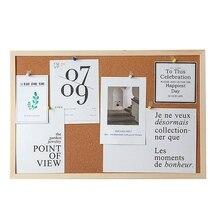 Tablero decorativo con marco de tablero de corcho tablero de mensajes foto hogar pared Fondo tablero