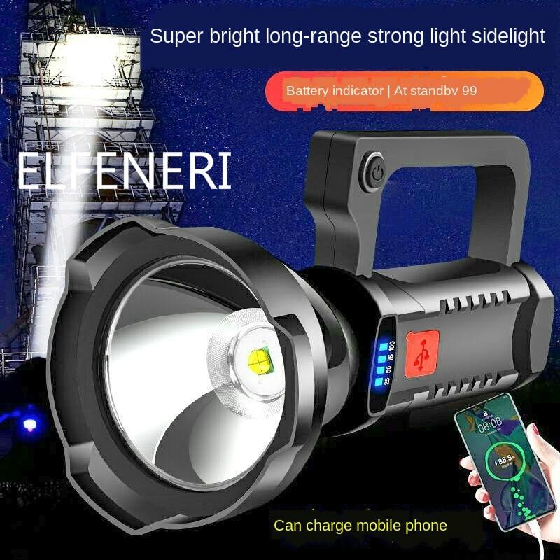 ED Перезаряжаемые вспышка светильник сильный светильник на открытом воздухе Ультра яркий длинный диапазон Портативный поиск светильник с М...