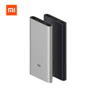 Image 1 - Xiaomi Mi Power Bank 3 10000mAh USB C Two way Quick Charge 18W Battery PLM12ZM Mijia Powerbank for iPhone XS