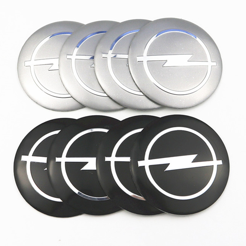 4Pcs Wheel Center Hub Cap Stickers 56.5mm Emblems For Opel Astra Opel Astra H Astra G Insignia Opel Mokka Car Styling