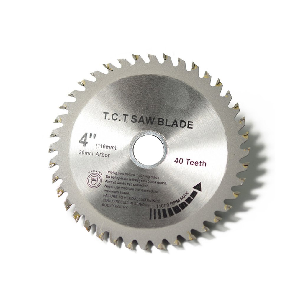 40 Teeth TCT Circular Saw Blade Wheel Discs TCT Alloy Woodworking Multifunctional Saw Blade For Wood Metal Cutting 110x20MM