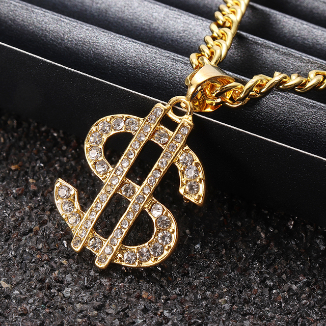 US Dollar Money Sign Pendant Necklaces