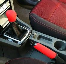 цена на Car Silicone Gel Gear Knob Cover Head Shift Glove Gear Shift Collars Handbrake Sleeve Car Hand Brake Covers Skin