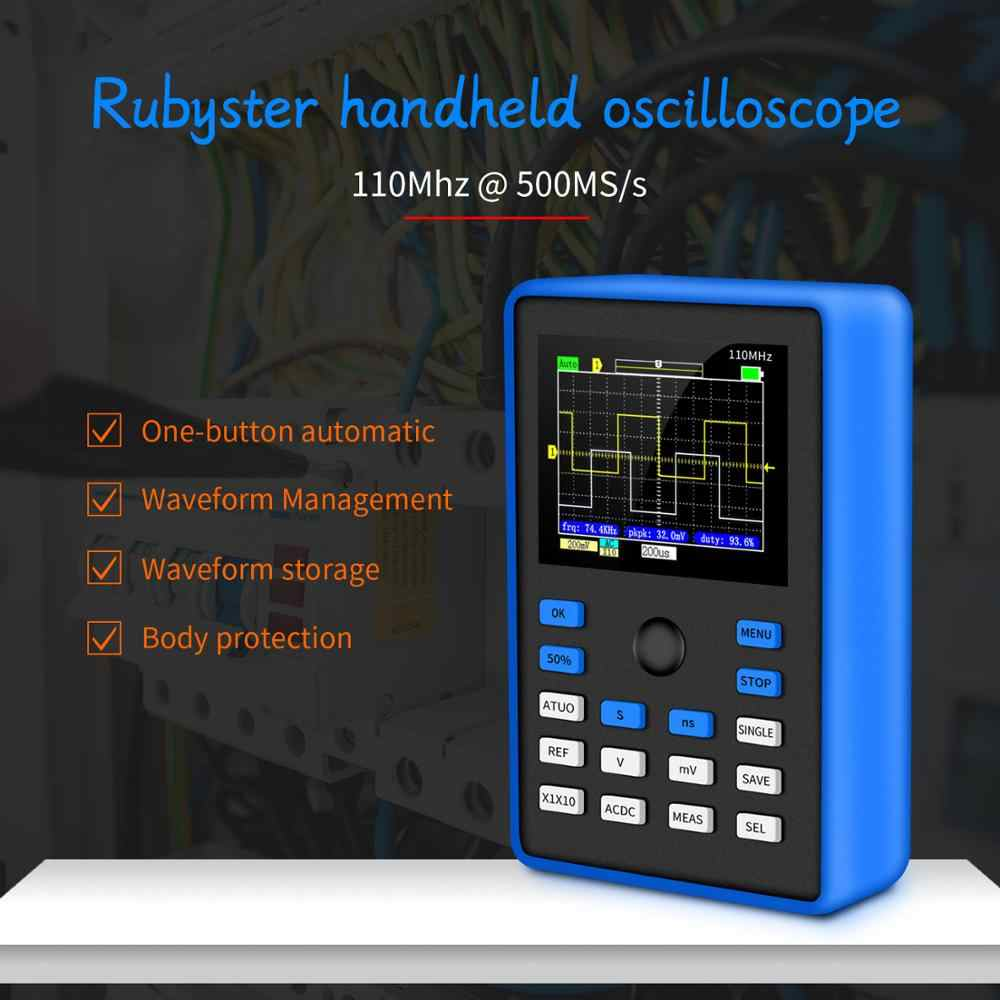 DSO1C15 Professionele Digitale Oscilloscoop 500 Ms/s Sampling Rate 110 Mhz Analoge Bandbreedte Ondersteuning Waveform Opslag