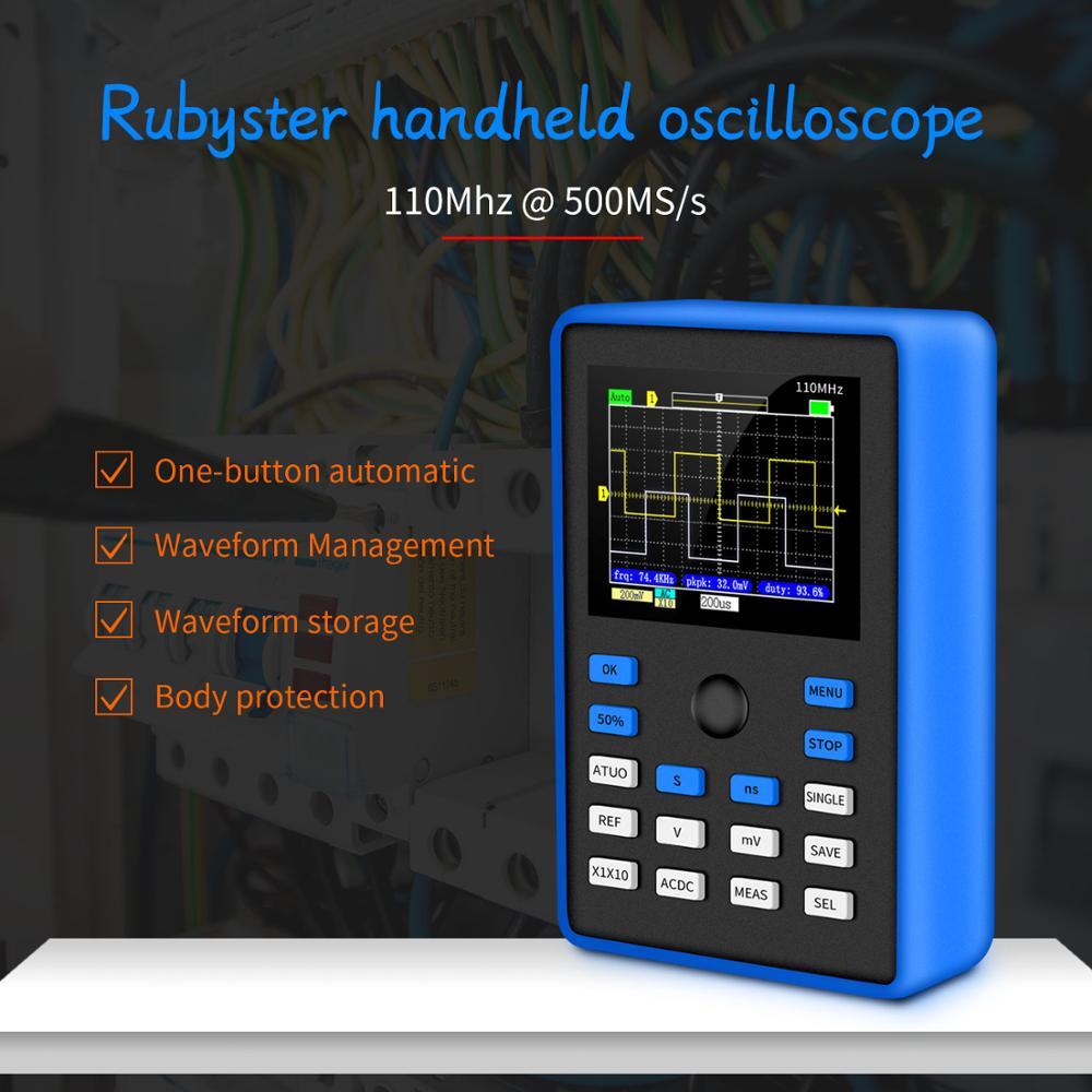 DSO1C15 Professional Digital Oscilloscope 500MS/s Sampling Rate 110MHz Analog Bandwidth Support Waveform Storage фото