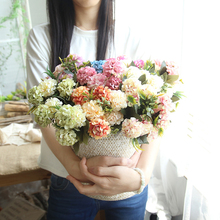 1/5/10Pcs Office Decoration chrysanthemum Fake flower Relaxing eyes Decor For Home Artificial Flowers Gift 1Pcs/6Head D40