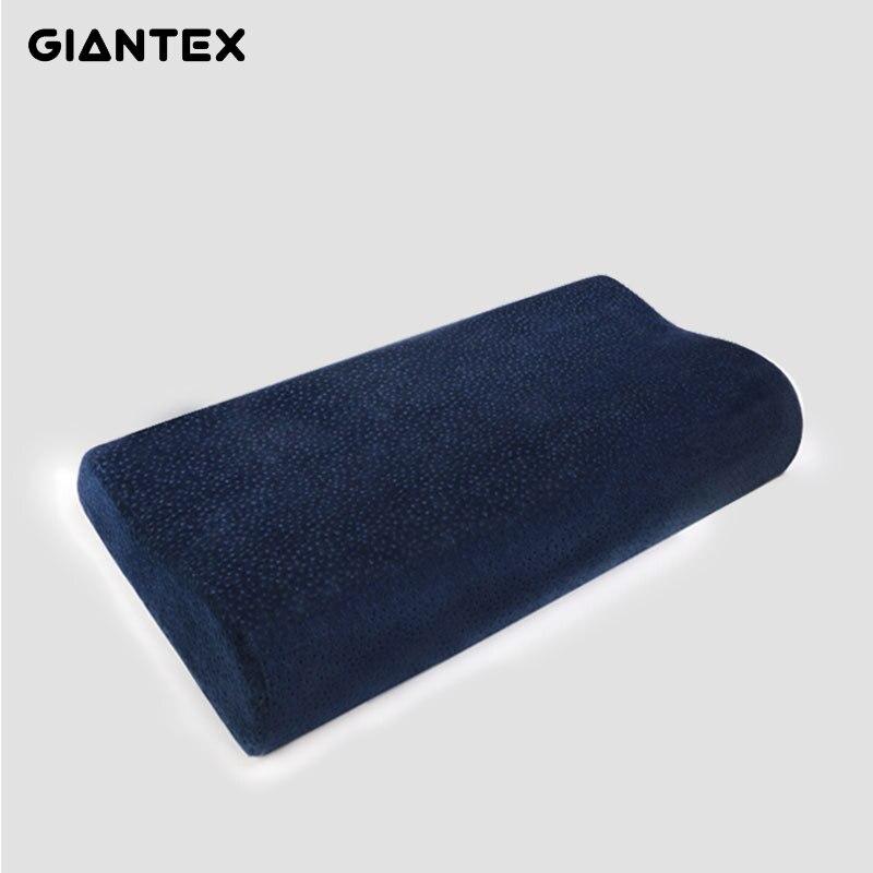 GIANTEX Sleeping Bamboo Pillow Memory Foam Pillow Orthopedic Pillow Pillows Oreiller Almohada Cervical Kussens Poduszkap