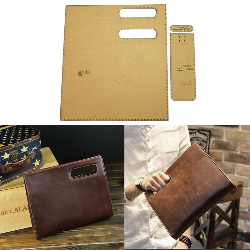 DIY Iuxurious Handbag Men's Clutch File Package DIY Leather Tool Kraft Paper Template Handmade Leather Craft Bag Template 30*24