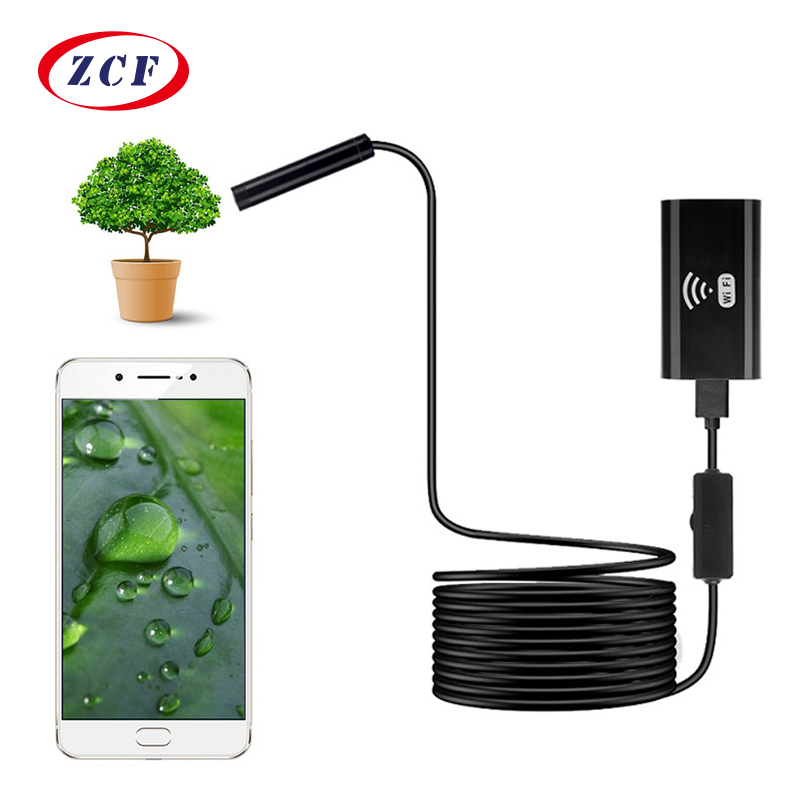 Wifi Endoscope Camera Hard-Wire Usb-Inspection iPhone Waterproof Android 8mm Lens Soft title=