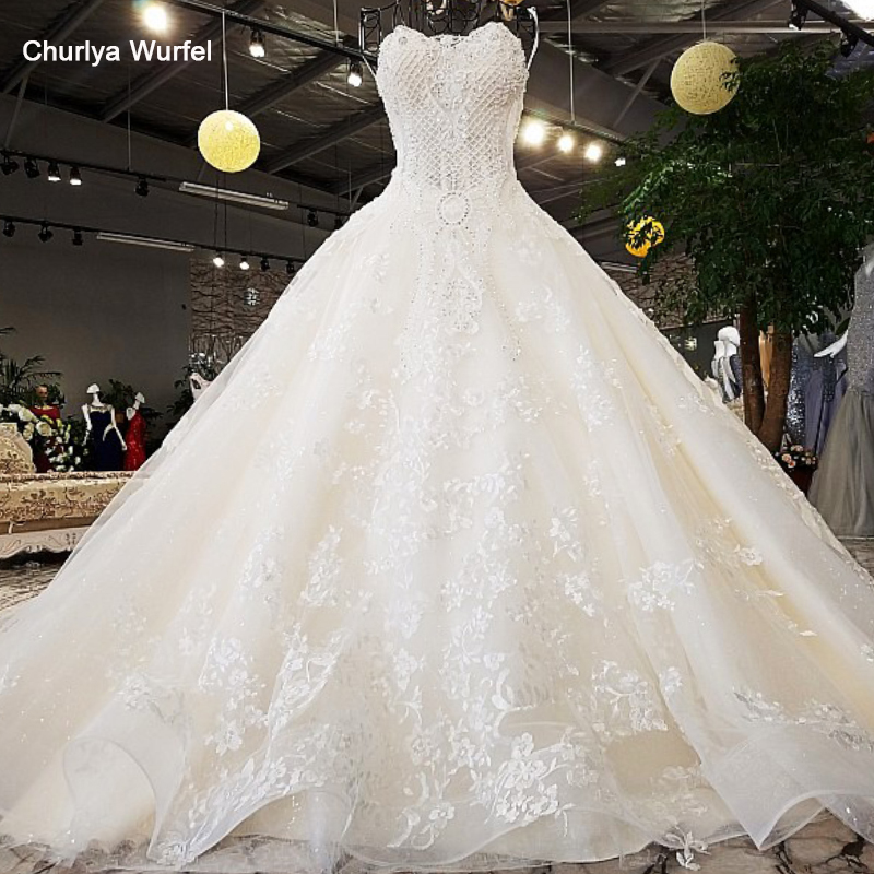LS74521 Luxury Wedding Dresses Strapless Sleeveless Lace Up Backless Ball Gown Beading Wedding Dresses From China Real Photos