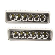 2 PACK - White Marine LED light 18w Boat Lights T-Top (SPOT BEAM)