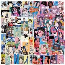 10/50/100 PIÈCES Chérie Beauté Autocollants D'anime Filles Otaku Bien-Être Illustration Ordinateur Portable Graffiti Autocollant Enfant Jouets Classiques